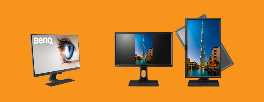 monitors for businesses height adjustable 4k FHD slim HP BenQ Dell